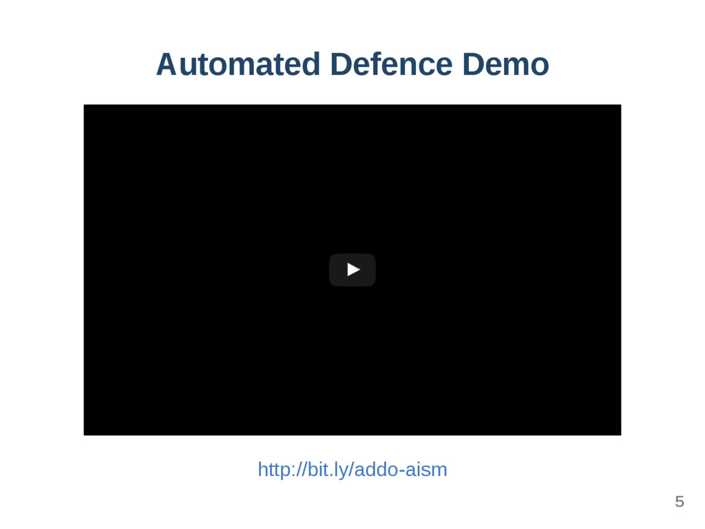 Automated Defence Demo Appsecco Automated Infra...