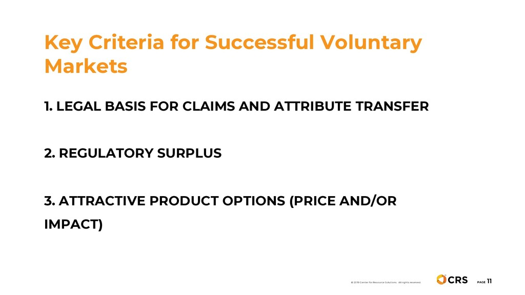 Key Criteria for Successful Voluntary Markets P...