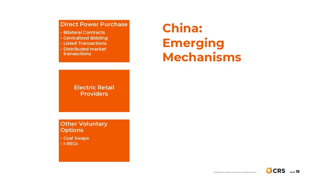 China: Emerging Mechanisms PAGE 18 © 2019 Cente...