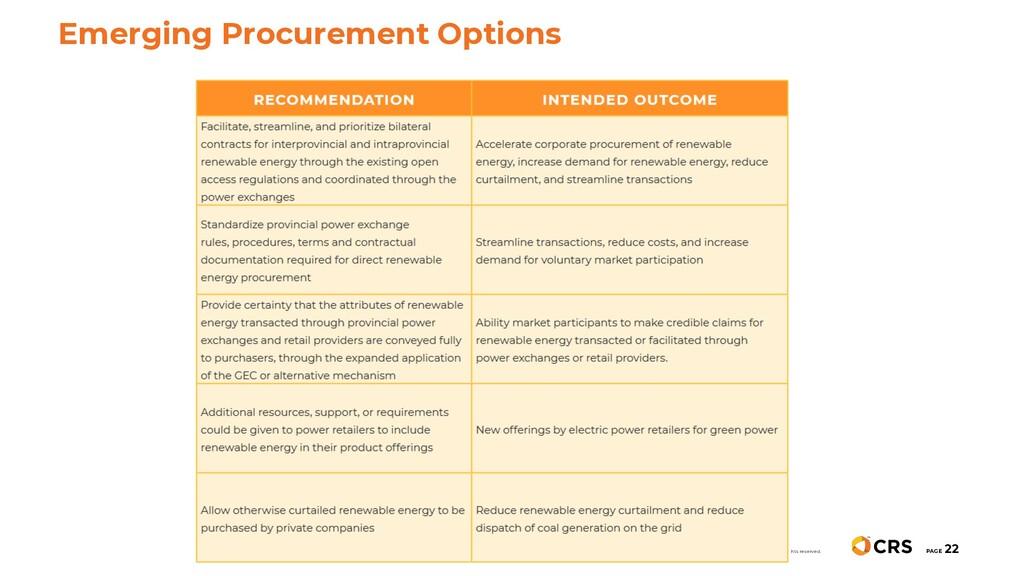 PAGE 22 Emerging Procurement Options © 2019 Cen...