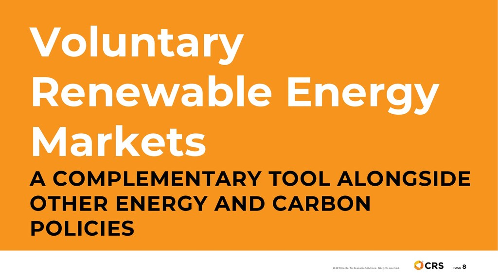 Voluntary Renewable Energy Markets A COMPLEMENT...