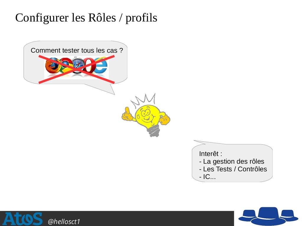 Atos Open Source @hellosct1 Configurer les Rôle...