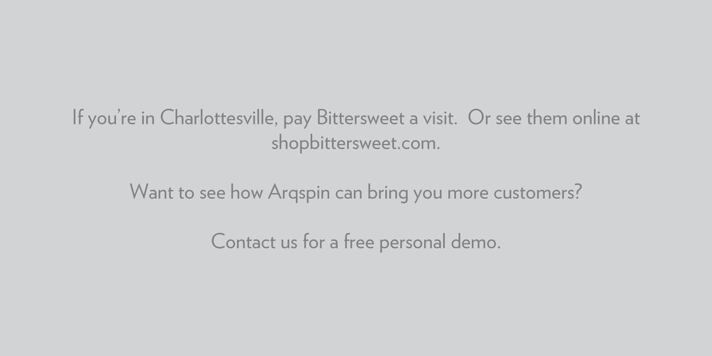 If you're in Charlottesville, pay Bittersweet a...