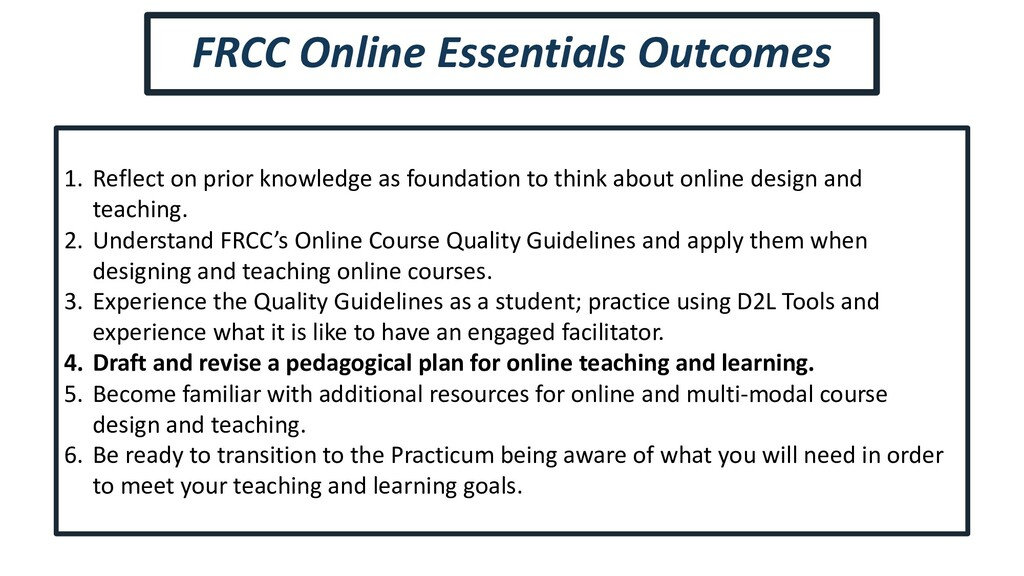 1. Reflect on prior knowledge as foundation to ...