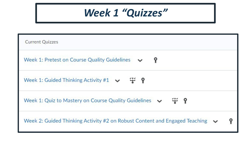 "Week 1 ""Quizzes"""