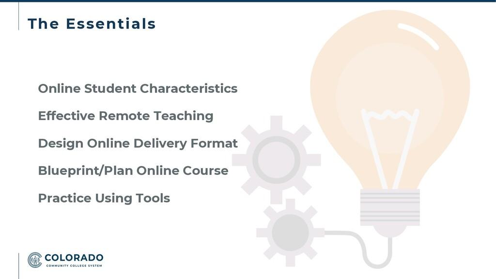 The Essentials Online Student Characteristics E...