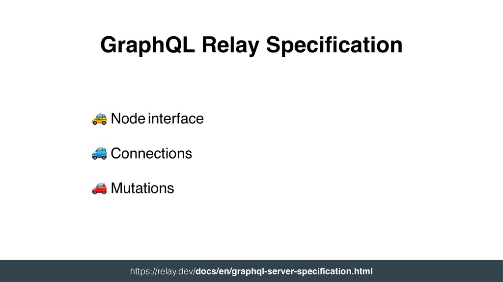Node interface  Connections  Mutations GraphQL...