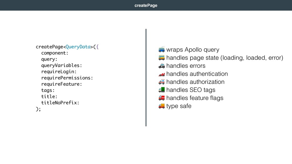 wraps Apollo query  handles page state (loadin...