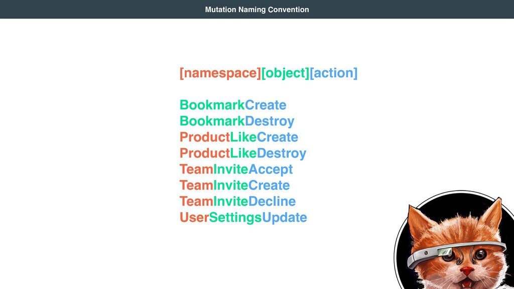 [namespace][object][action]  BookmarkCreate ...