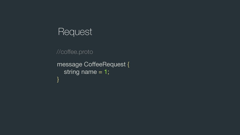 message CoffeeRequest {  string name = 1;  } Req...