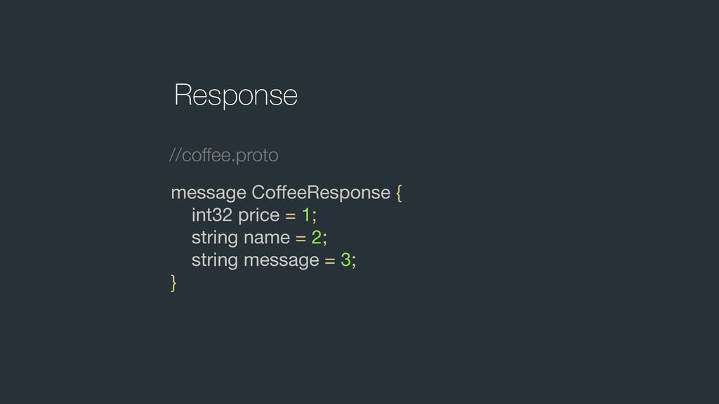 message CoffeeResponse {  int32 price = 1;  stri...