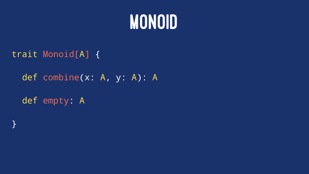 MONOID trait Monoid[A] { def combine(x: A, y: A...