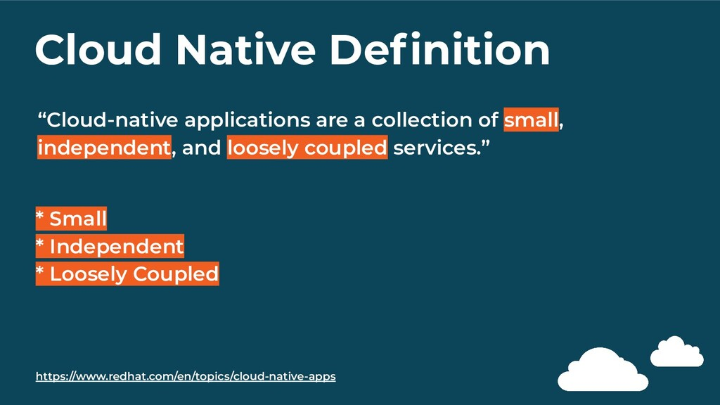 "Cloud Native Definition ""Cloud-native applicatio..."