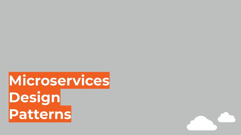 Microservices Design Patterns
