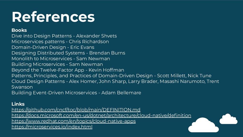 References Books Dive into Design Patterns - Al...
