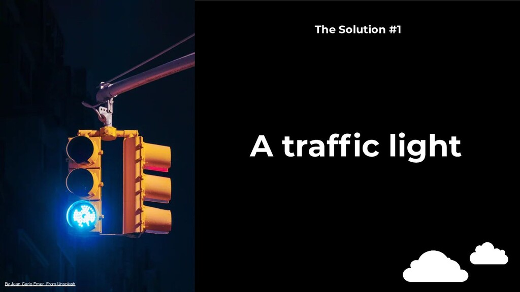 A traffic light By Jean Carlo Emer From Unsplash...