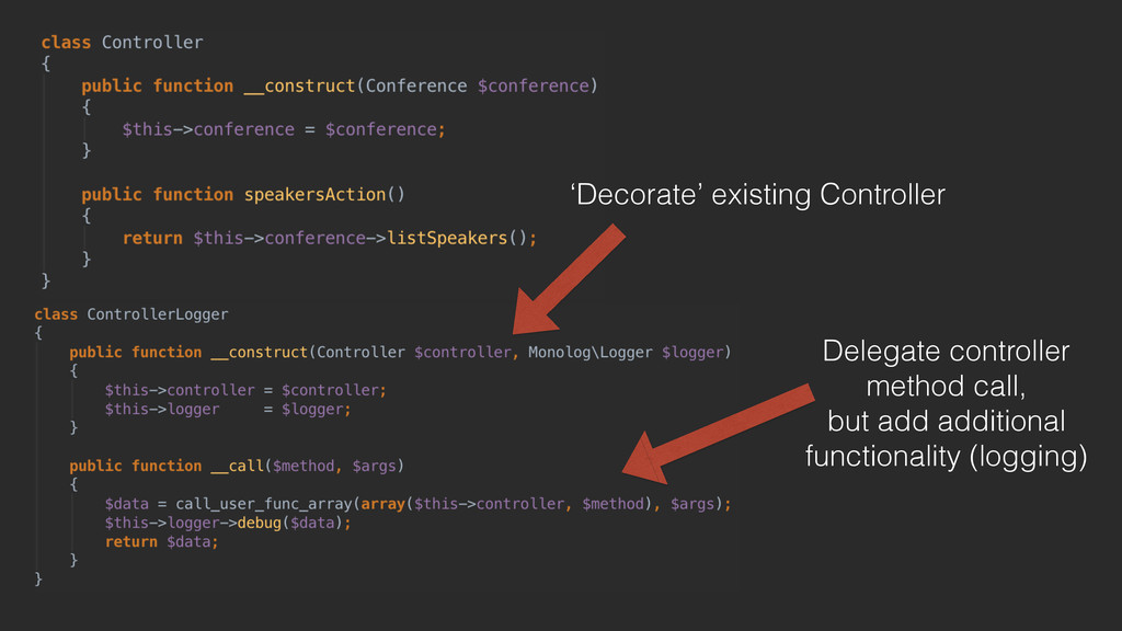 'Decorate' existing Controller Delegate control...