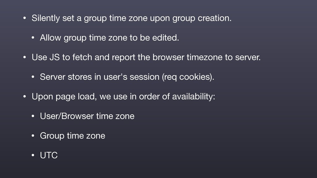 • Silently set a group time zone upon group cre...