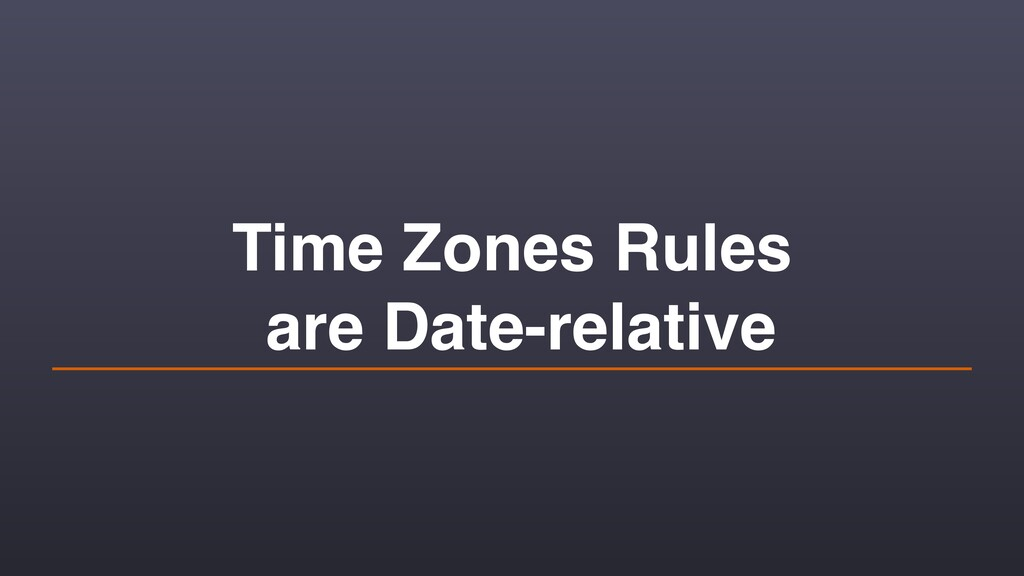 Time Zones Rules