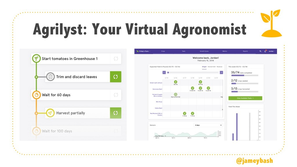 Agrilyst: Your Virtual Agronomist @jameybash