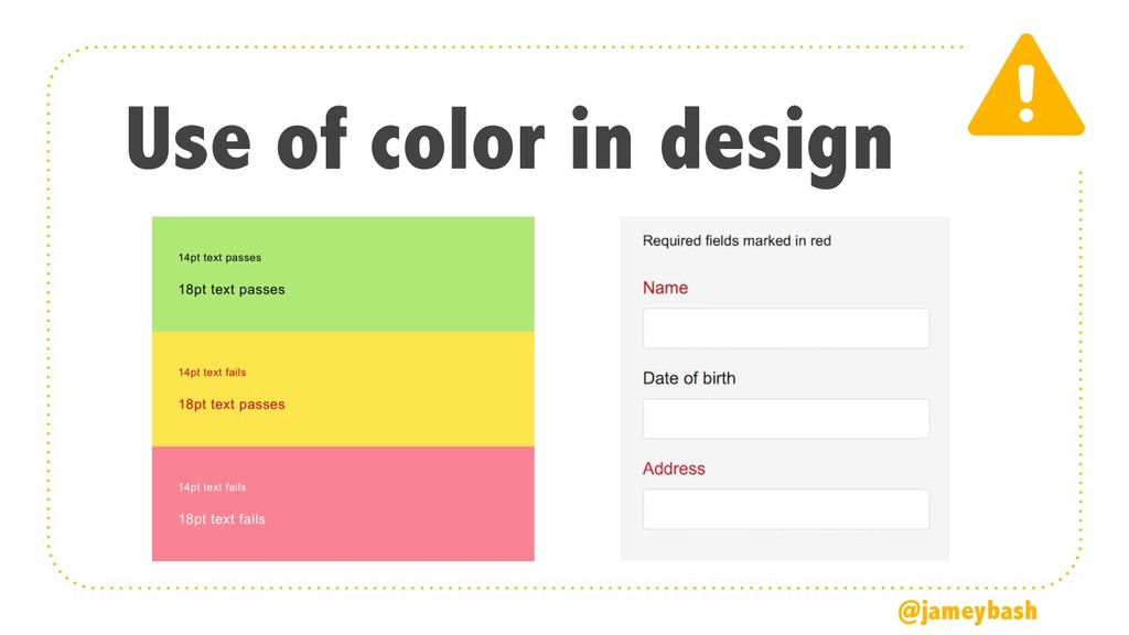 Use of color in design @jameybash