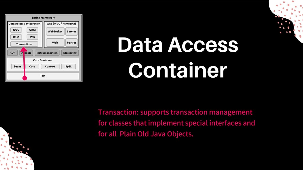 Transaction: supports transaction management fo...