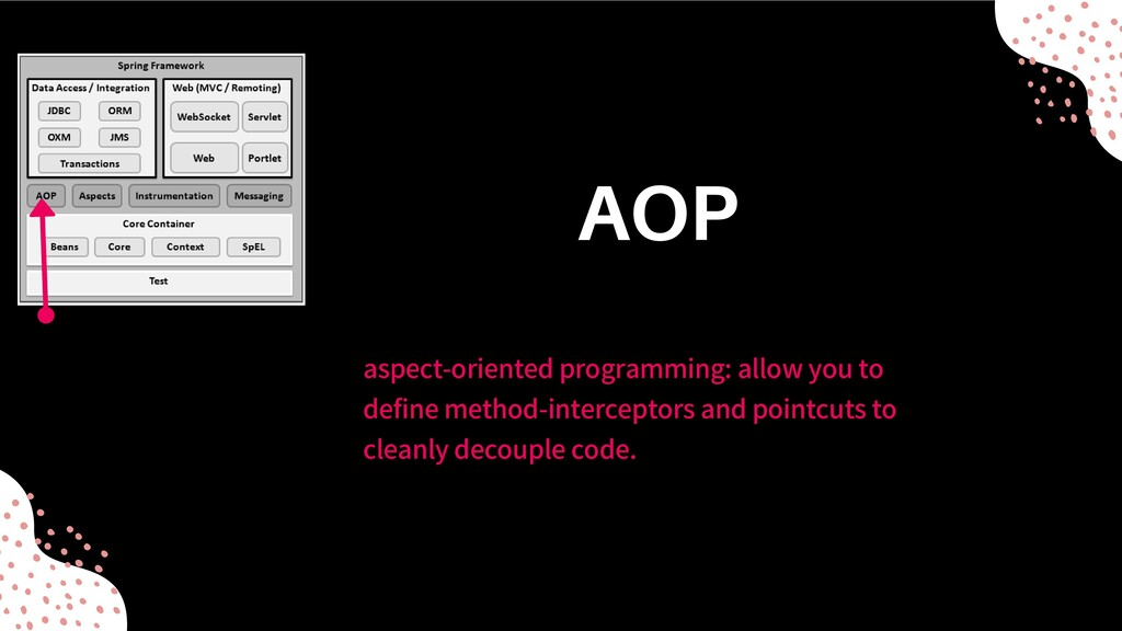 aspect-oriented programming: allow you to defin...