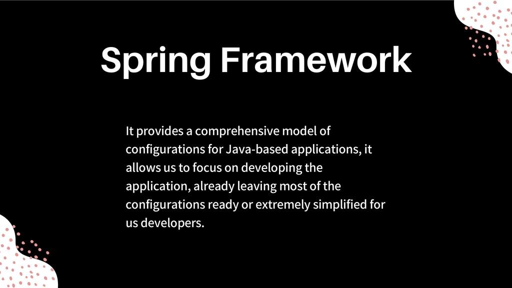 It provides a comprehensive model of configurat...