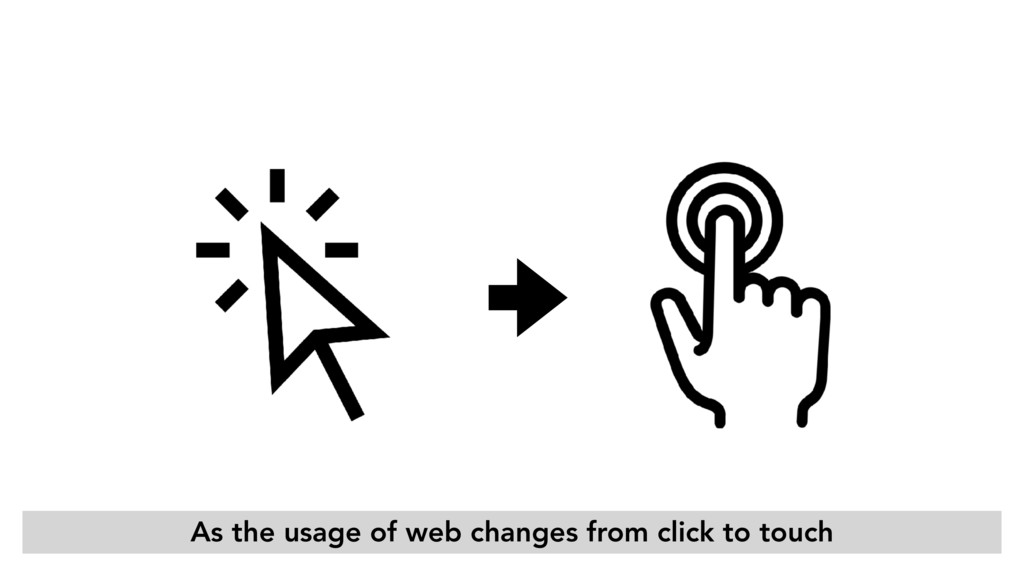 As the usage of web changes from click to touch