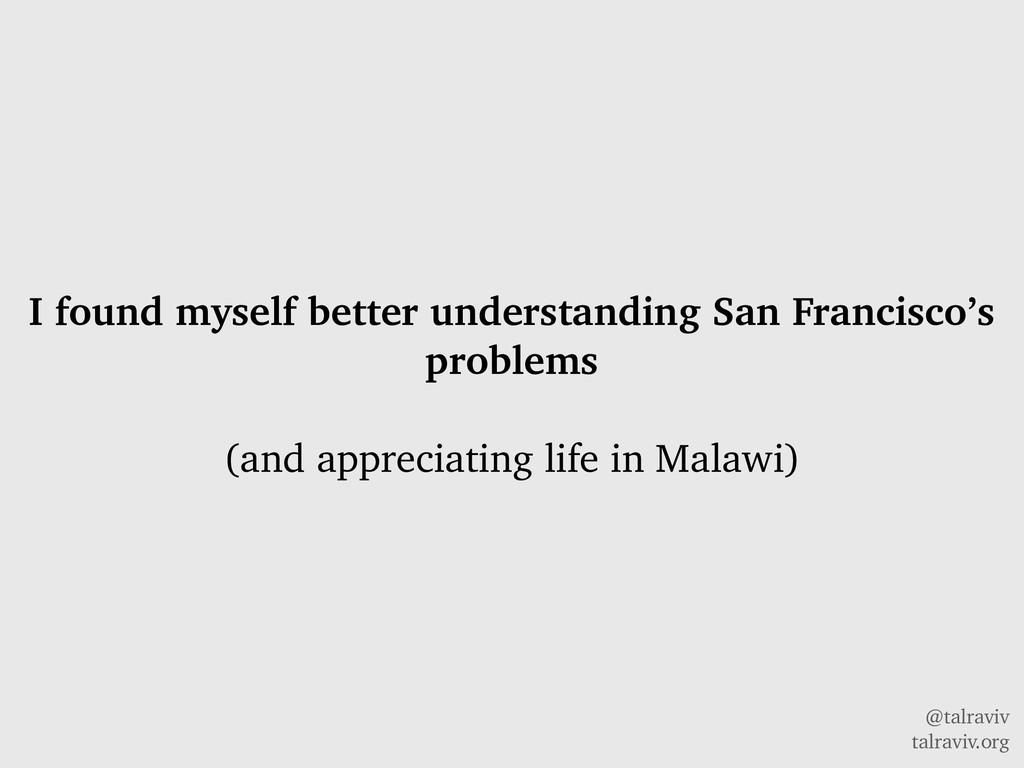 @talraviv talraviv.org I found myself better un...