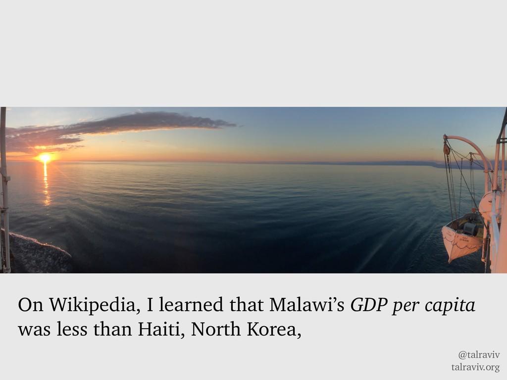 @talraviv talraviv.org On Wikipedia, I learned ...