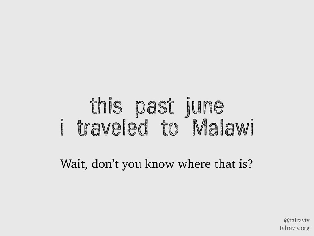 @talraviv talraviv.org this past june i travele...