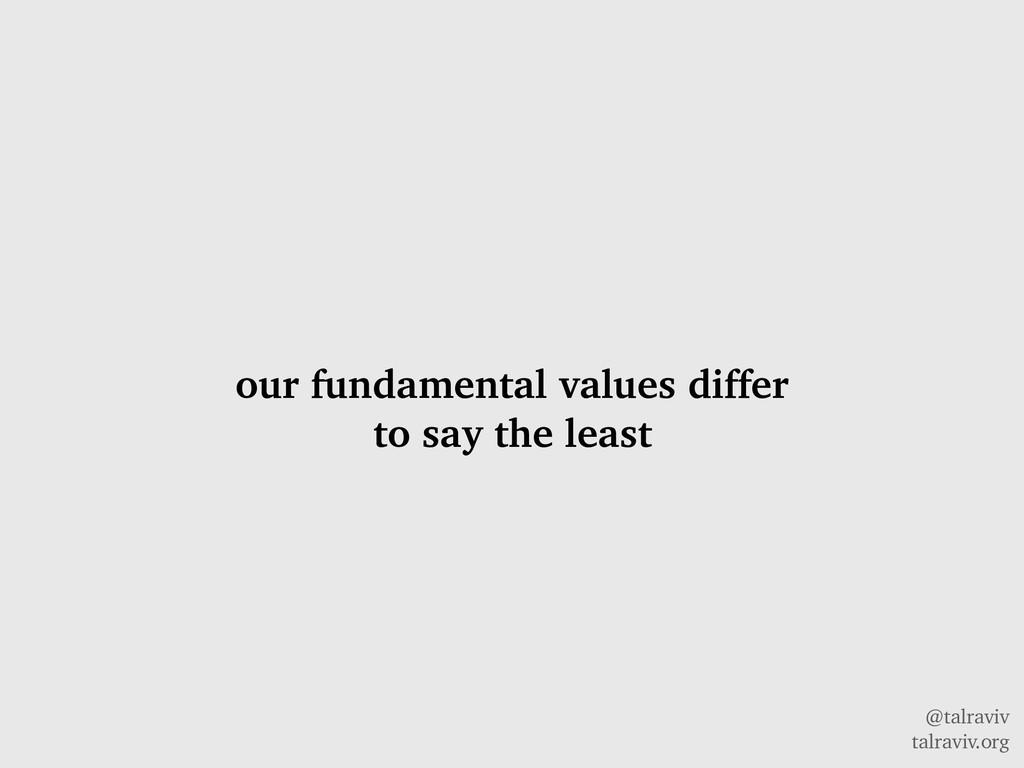 @talraviv talraviv.org our fundamental values d...