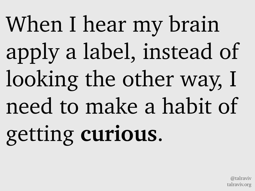 @talraviv talraviv.org When I hear my brain app...