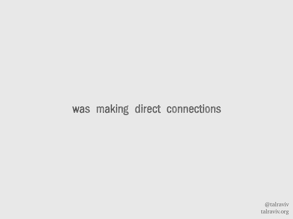 @talraviv talraviv.org was making direct connec...