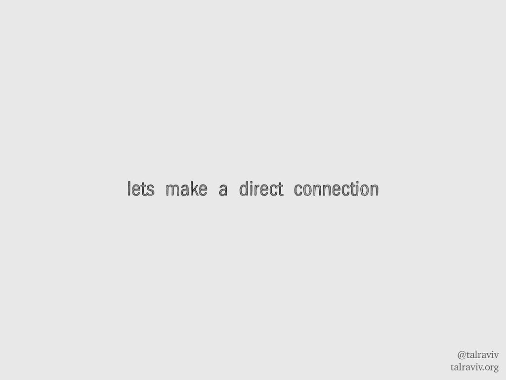 @talraviv talraviv.org lets make a direct conne...