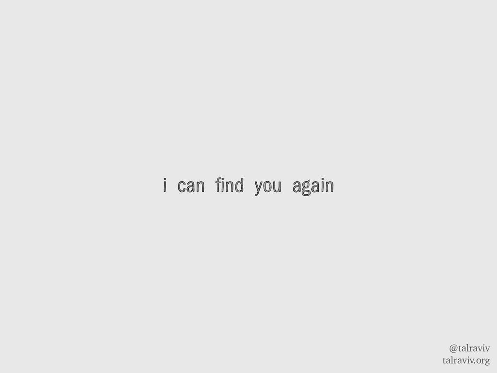 @talraviv talraviv.org i can find you again