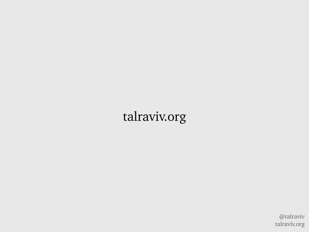 @talraviv talraviv.org talraviv.org