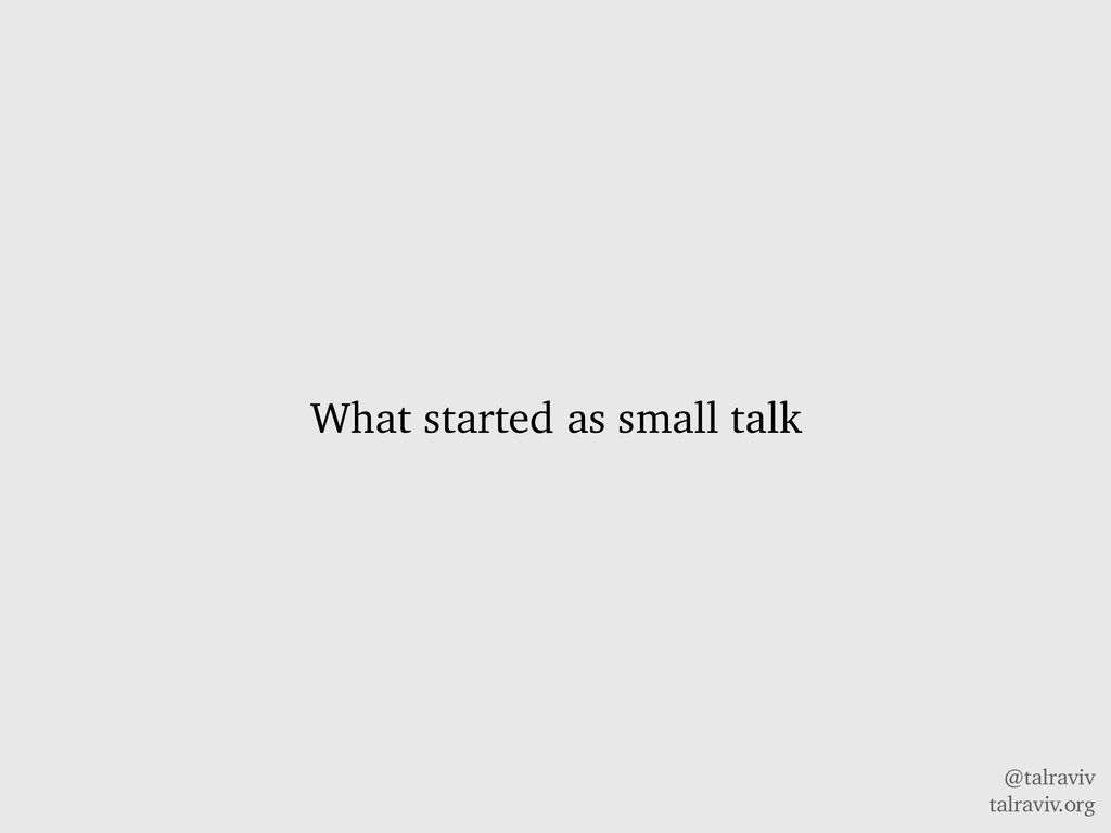 @talraviv talraviv.org What started as small ta...