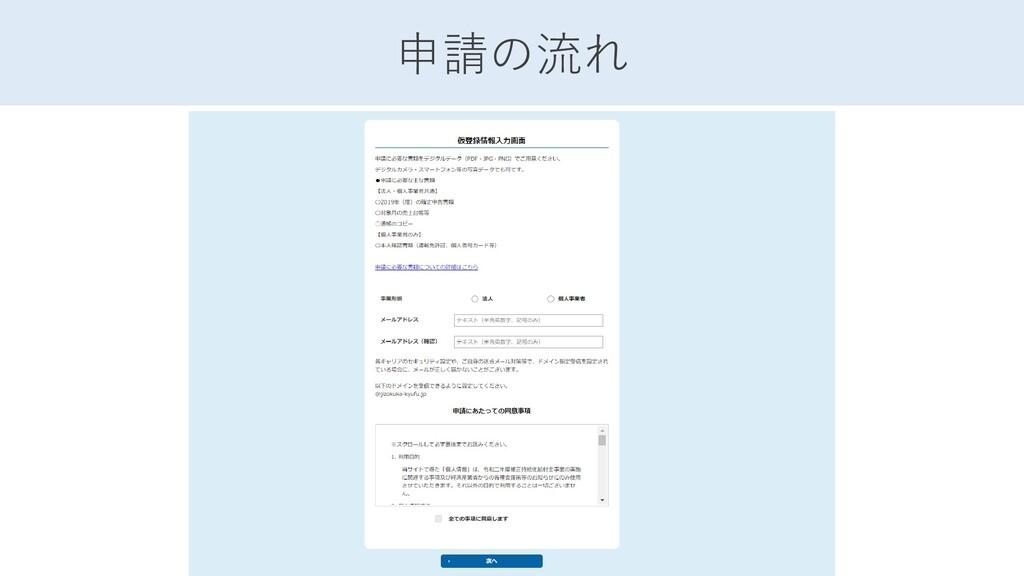 申請の流れ