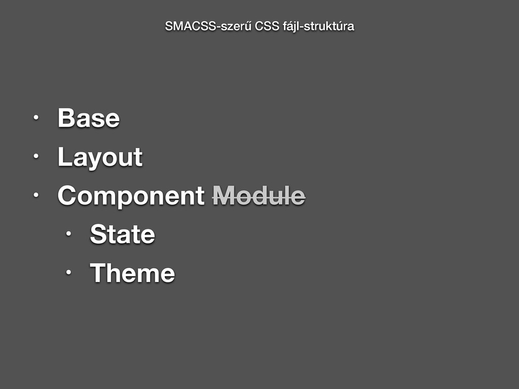 • Base • Layout • Component Module • State • Th...