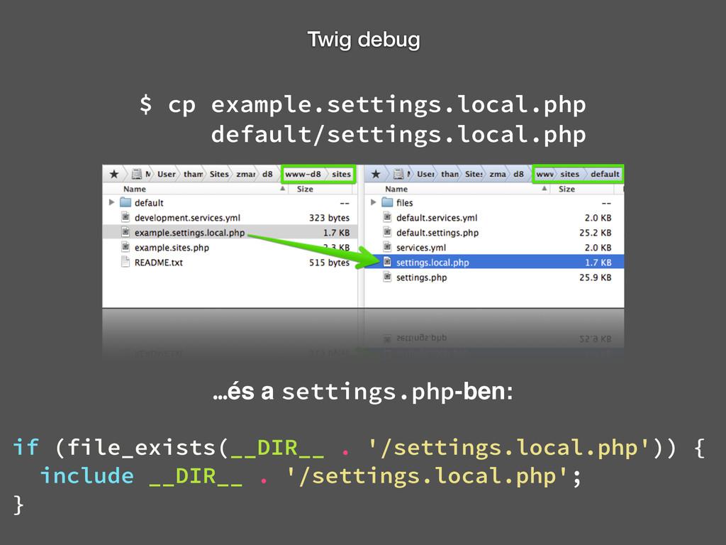 Twig debug $ cp example.settings.local.php  de...