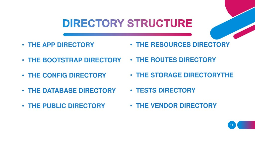 11 • THE APP DIRECTORY • THE BOOTSTRAP DIRECTOR...