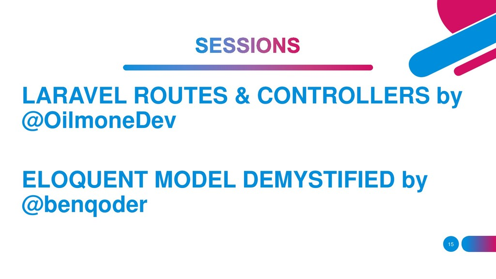 15 LARAVEL ROUTES & CONTROLLERS by @OilmoneDev ...