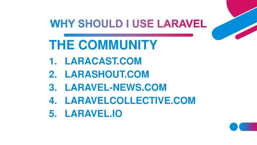 THE COMMUNITY 7 1. LARACAST.COM 2. LARASHOUT.CO...