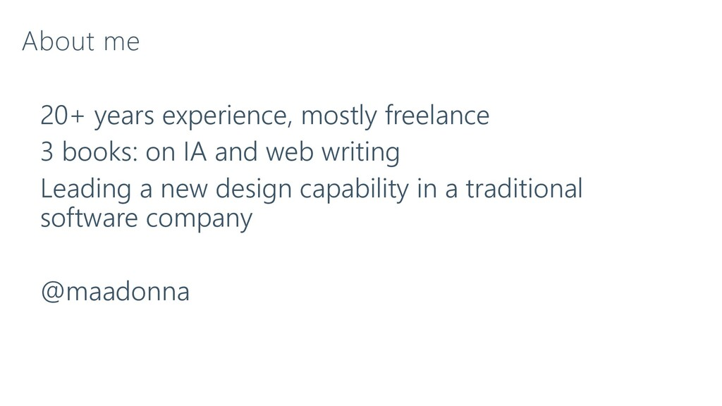 About me 20+ years experience, mostly freelance...