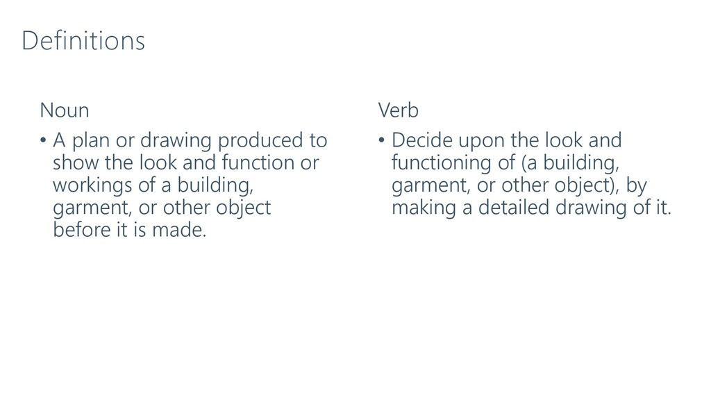 Definitions Noun • A plan or drawing produced t...