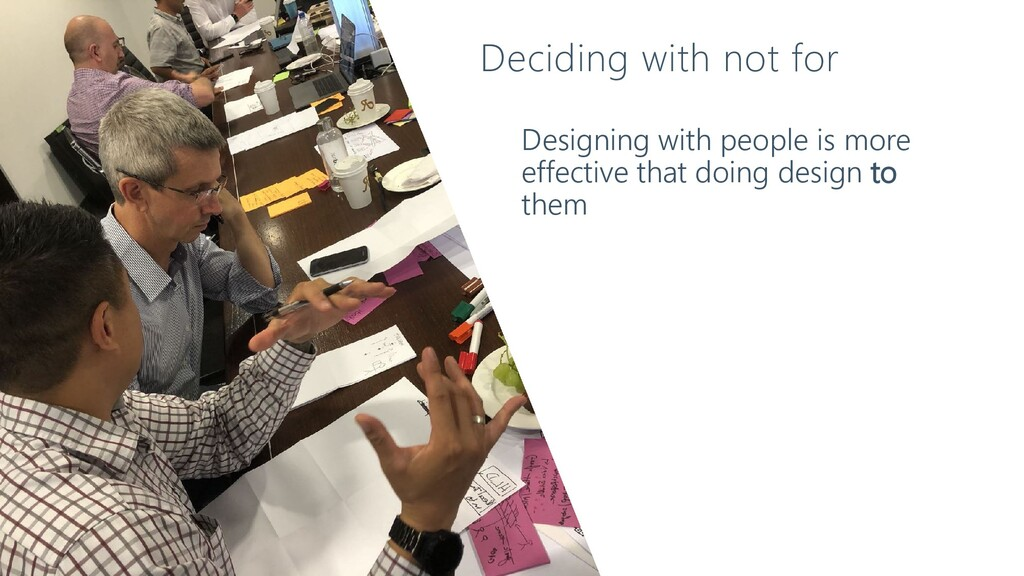 Designing with people is more effective that do...