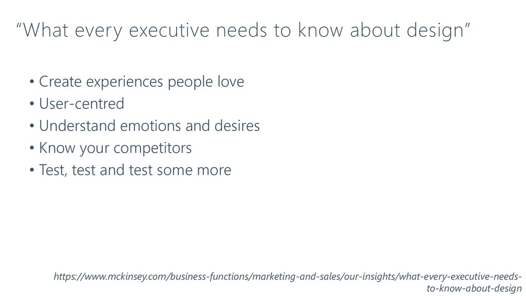 """""""What every executive needs to know about desig..."""