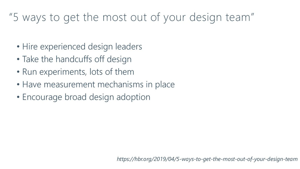 """""""5 ways to get the most out of your design team..."""